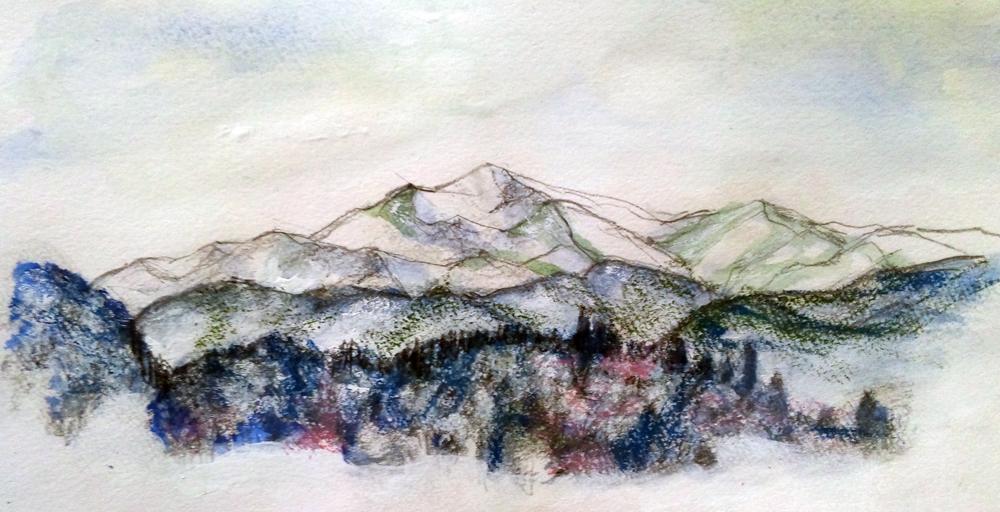 雪の高屹山